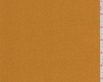 Harvest Orange Sueded Charmeuse, Fabric By The Yard