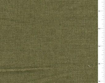 "60"" Olive Green Vintage Look Linen Fabric-15 yard bolt (VL0122)"