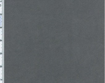 Graphite Grey Cotton Canvas Home Decorating Fabric, Fabric By The Yard