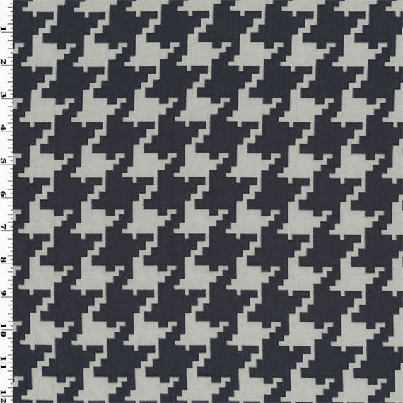 Navy/Off White Houndstooth Jacquard Home Decorating Fabric, Fabric By The  Yard