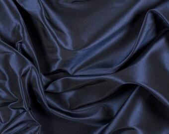 """54"""" Wide 100% Silk Taffeta Navy Blue by the yard (9000MT14)"""