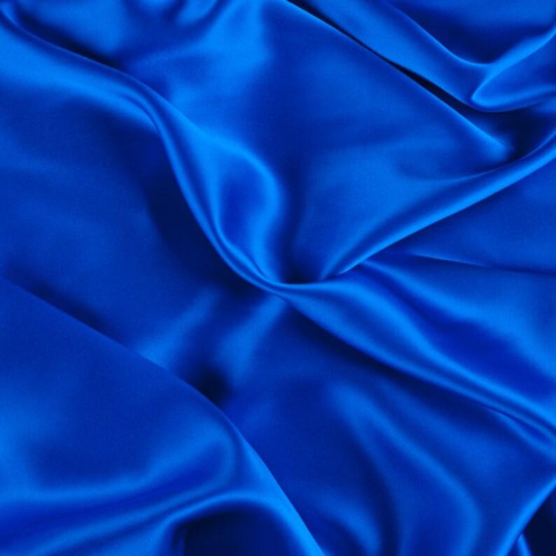 1000M148 45 Wide 100/% Silk Charmeuse Sapphire Blue