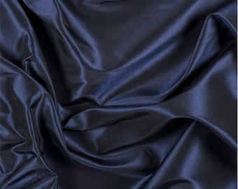 Navy Blue Silk Taffeta, Fabric By The Yard