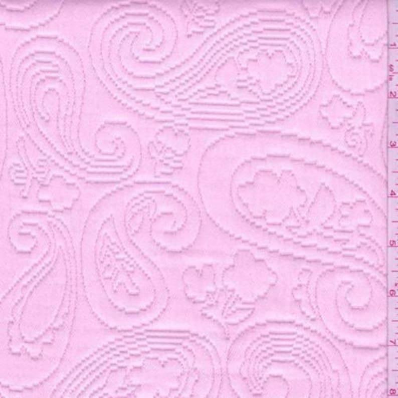Fabric By The Yard Shabby Chic Pink Paisley Matelasse