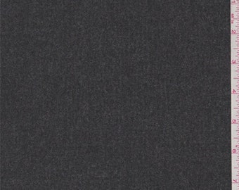Heather Charcoal Grey Flannel Coating, Fabric By The Yard