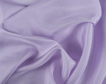 Lilac Silk Habotai, Fabric By The Yard
