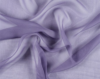 Amethyst Silk Chiffon, Fabric By The Yard