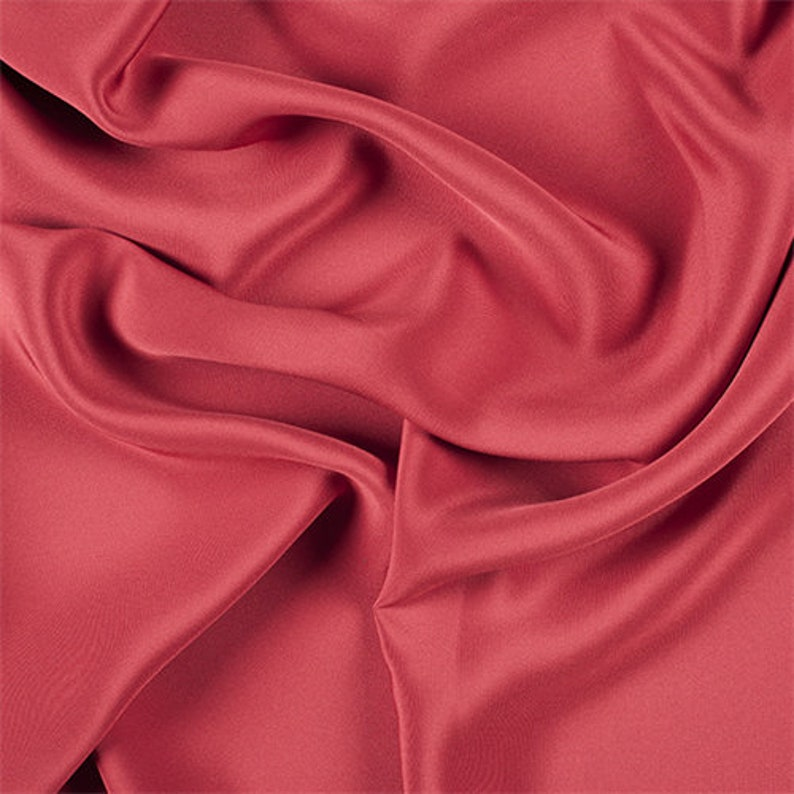 Fabric By The Yard Red 4 Ply Silk Crepe