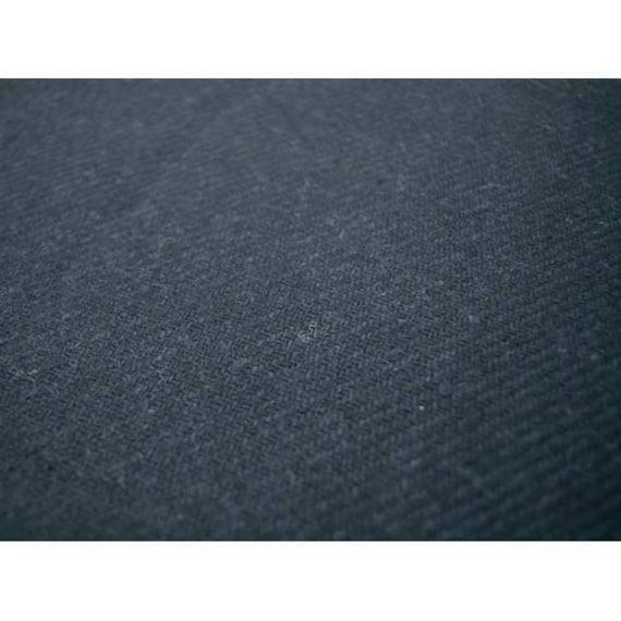 BlackDeep Navy Wool Blend Twill Jacketing Fabric By The Yard