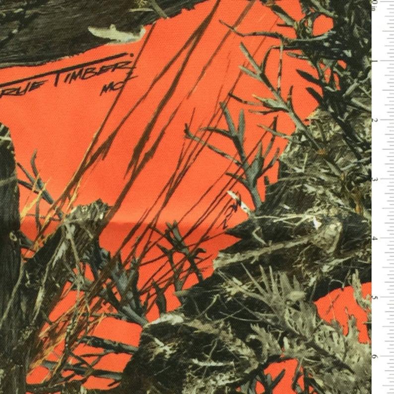 58-60 MC2 Blaze Orange Truetimber Canvas Fabric-12 Yards Wholesale by the Bolt VY1009X-C1