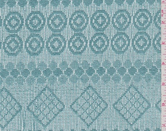 Jade Blue Crochet Lace, Fabric By The Yard