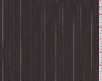 Brown Stripe Polyester, Fabric By The Yard