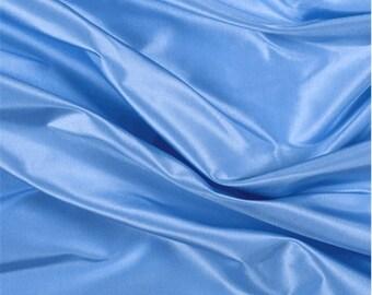 Sky Blue Silk Taffeta, Fabric By The Yard