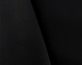 Black Twill Soft Shell Fleece, Fabric By The Yard