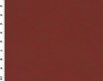 Faux Leather Brick Red, Fabric By The Yard