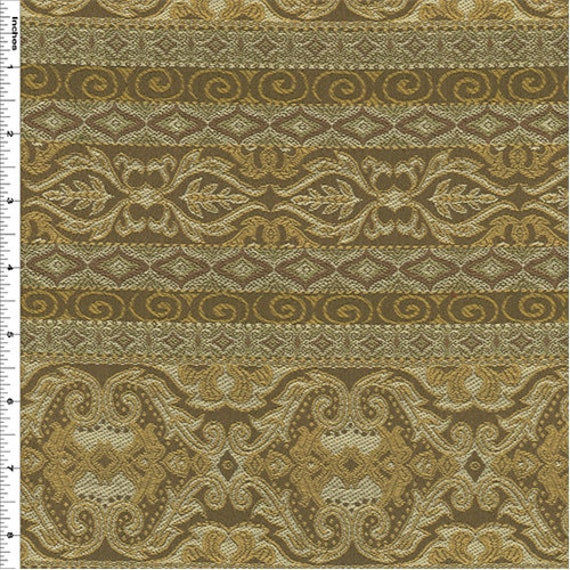 Caesars Stripe Beige Home Decorating Fabric, Fabric By The Yard