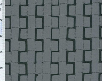 Graphite Grey Geometric Decorating Fabric, Fabric By The Yard