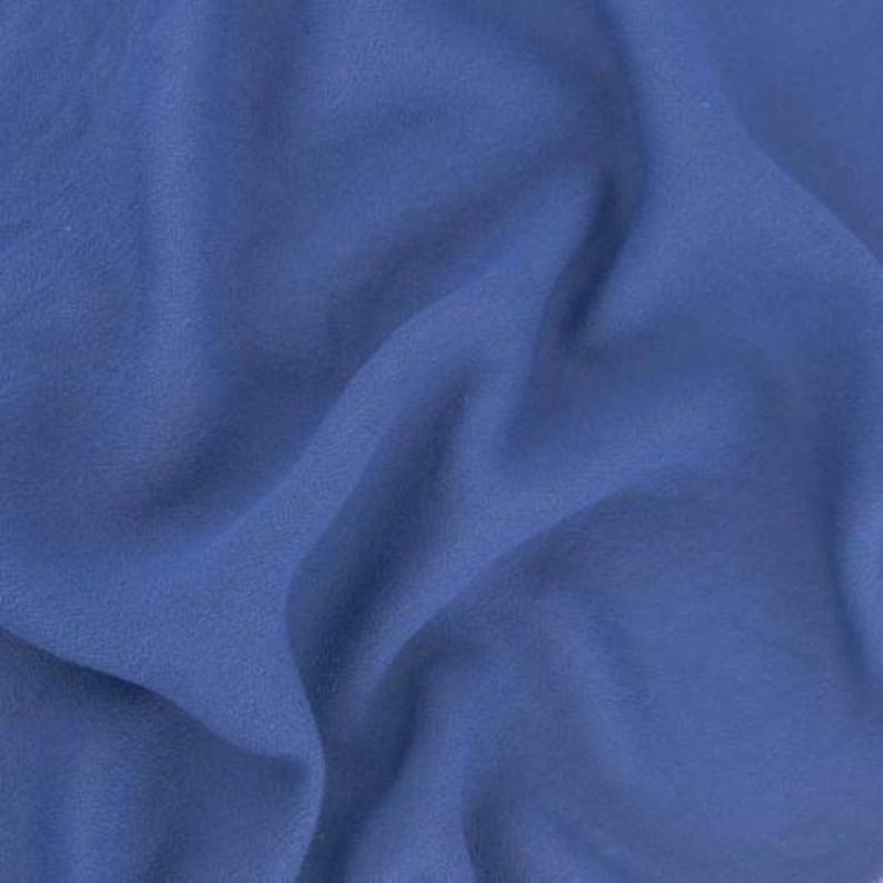 Indigo Blue Momie Crepe Fabric By The Yard