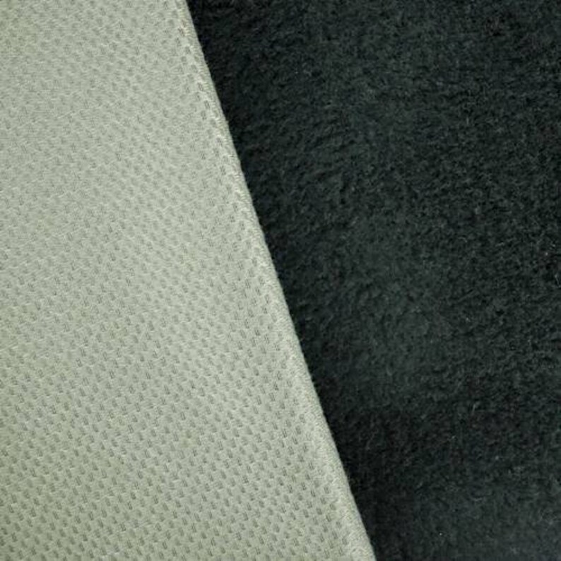 Bison BlackGray Bonded Sherpa Fleece Knit Fabric By The Yard
