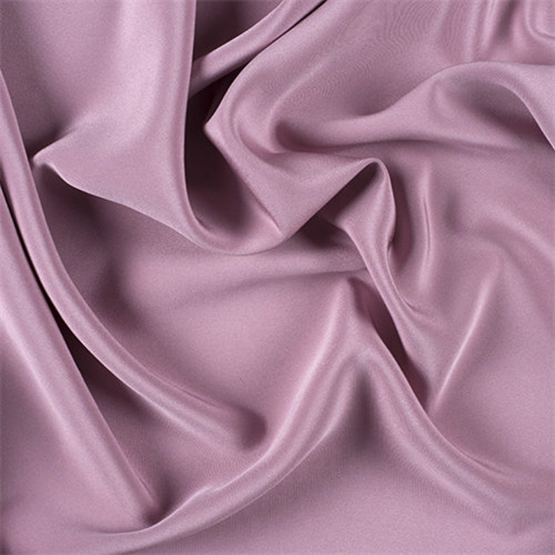 Fabric By The Yard Rose 4 Ply Silk Crepe