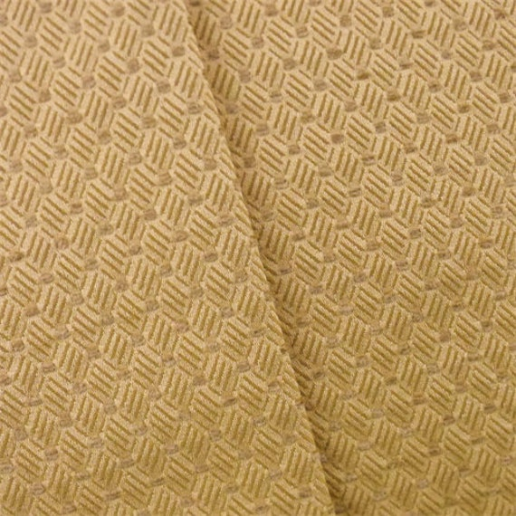 Golden Yellow Diamond Woven Home Decorating Fabric Fabric By | Etsy