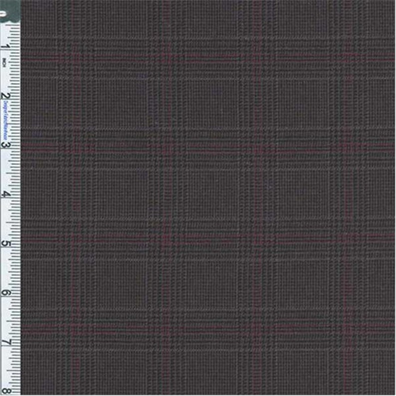 f4081534284 Black/Charcoal Ashland Glen Plaid Cotton Suiting Fabric By | Etsy