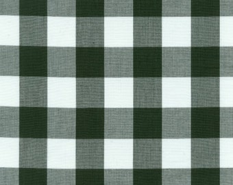 "60"" Hunter Green Gingham Check Fabric (1"" check) 20 Yards By The Bolt"