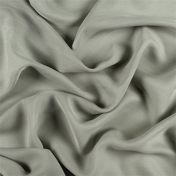 DOUBLE GEORGETTE FABRIC SILVER SOLD BY THE YARD