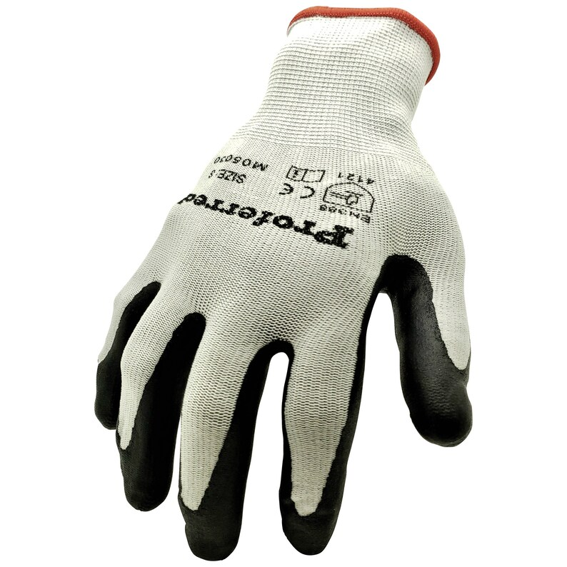 Spandex Liner S to XXL 6 Pairs Nitrile Coated Work Gloves with Superior Grip