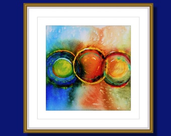 """Original Abstract Watercolor, Watercolor Painting,  Original Painting, Colorful, """"Connections 1"""""""