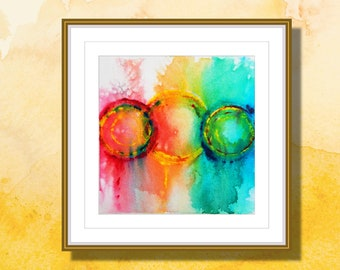 """Original Abstract Watercolor, Watercolor Painting,  Original Painting, Colorful, """"Connections 3"""""""