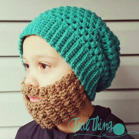 Crochet Beard Pattern With 3 Styles Included Hat Pattern Is Etsy