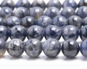 7mm Bermudan Blue Iolite Gemstone Grade AA Blue Round 7mm Loose Beads 15.5 inch Full Strand (90146330-163)