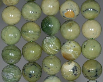 12MM Light Green Chrysoprase Gemstone Round Loose Beads 15.5 inch Full Strand (80002676-A88)