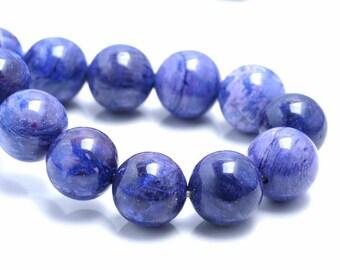 10MM Charoite Jasper Gemstone Grade AA Round Loose Beads 7.5 inch Half Strand (80002701 H-A92)