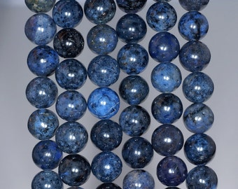 1 lot of 10 round DUMORTIERITE 8 mm natural stone beads