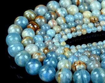 Blue Calcite Beaded Lanyard