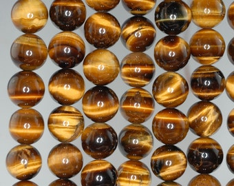 9X8-16X10MM COGNAC TIGER EYE GEMSTONE YELLOW PEBBLE NUGGET  LOOSE BEADS 13-14/""