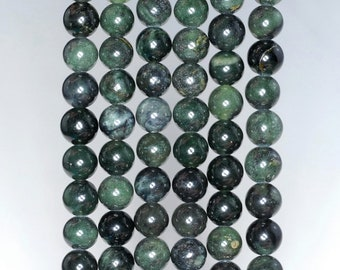90184736-A123 FREE USA Ship 4mm Dark Forest Jade Gemstone Round Loose Beads 15.5 inch Full Strand LOT 1,2,6,12 and 50