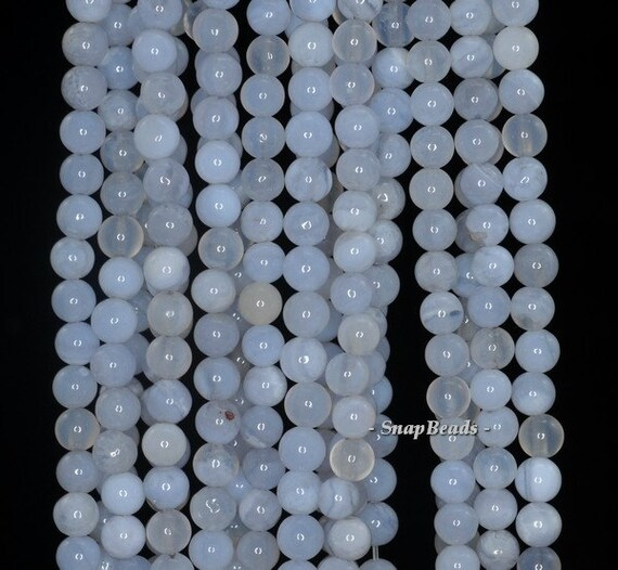 """4MM  BLUE LACE AGATE GEMSTONE  ROUND 4MM LOOSE BEADS 16/"""""""