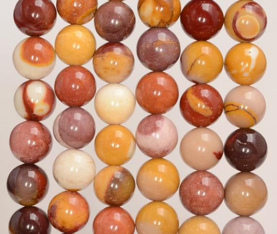 """6MM DECADENCE MOOKIATE GEMSTONE GRADE A RED YELLOW ROUND 6MM LOOSE BEADS 15.5/"""""""