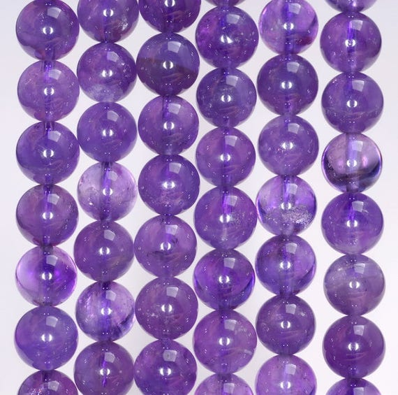 """4mm Russican Amethyst Gemstone Round Loose Beads 15/"""" AA"""