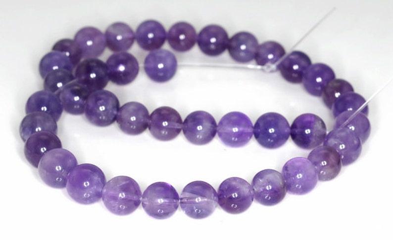 10mm Light Amethyst Gemstone Grade A Purple Round 10mm Loose Beads 7 inch Half Strand 90191616-813