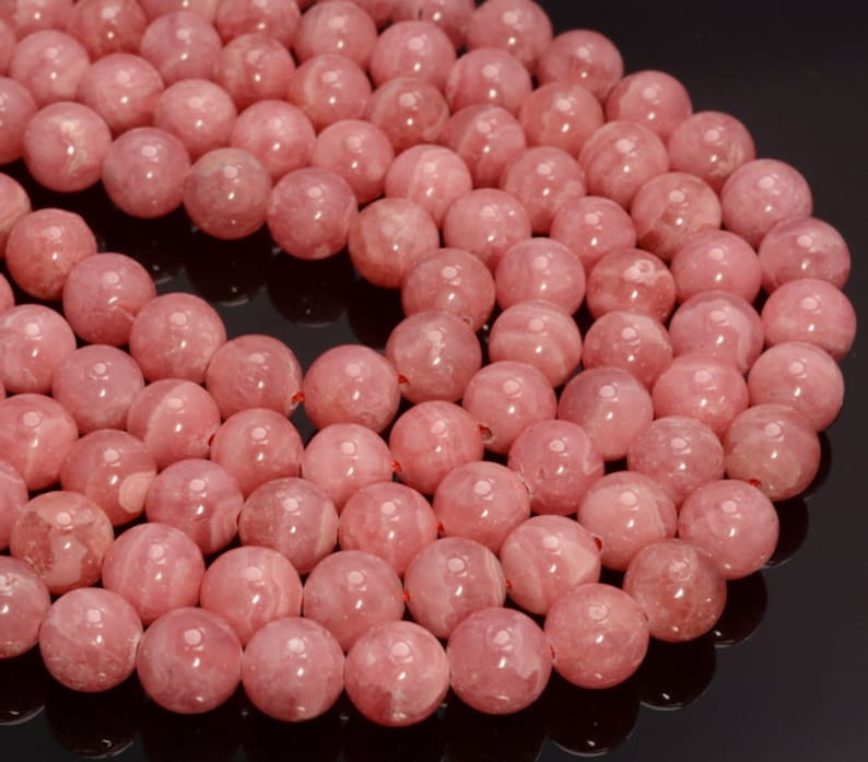 Genuine Argentina Rhodochrosite Gemstone Red Pink Grade AAA Round 4mm 6mm 8mm Loose Beads 924