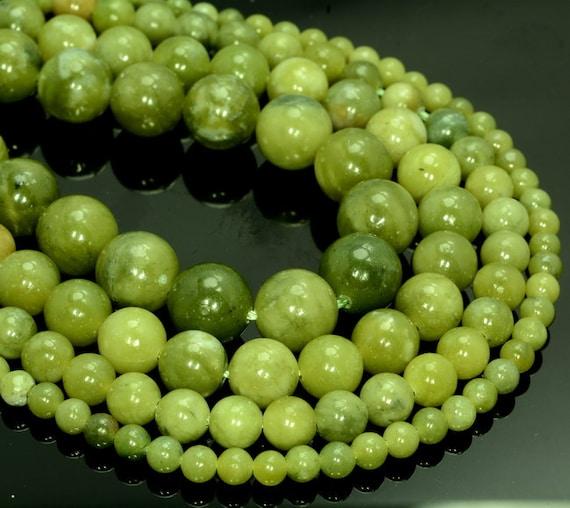 "4MM  PERIDOT GEMSTONE  GRADE A GREEN FLAT ROUND NUGGET LOOSE BEADS 14/"""