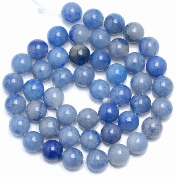 Oz Seller Natural  Blue Aventurine  8mm Approx 48 pce 1mm hole   Free postage