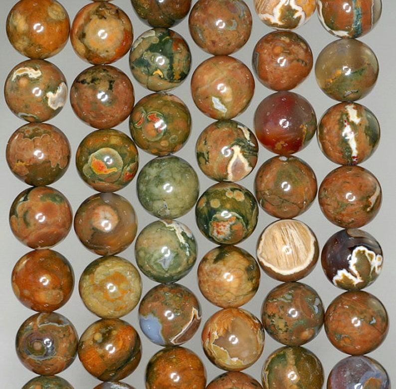 90183459-787 x10 10 Strands 4MM Rhyolite Gemstone Grade AA Forest  Green Brown Round 4MM Loose Beads 15.5 inch Full Strand BULK LOT