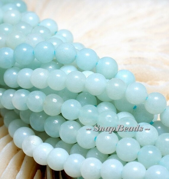 """4MM AQUA BLUE LACE AGATE GEMSTONE FACETED ROUND 4MM LOOSE BEADS 7.5/"""""""
