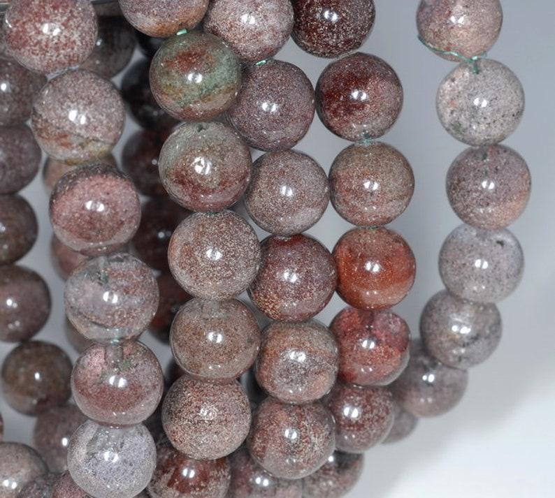 80003553-A162 12MMM Red Green Phantom Quartz Gemstone Grade A Round Loose Beads 8 inch Half Strand