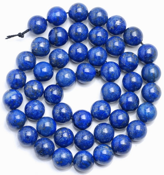 "4MM AZURA LAPIS LAZULI GEMSTONE GRADE AA BLUE ROUND 4MM LOOSE BEADS 15.5/"""
